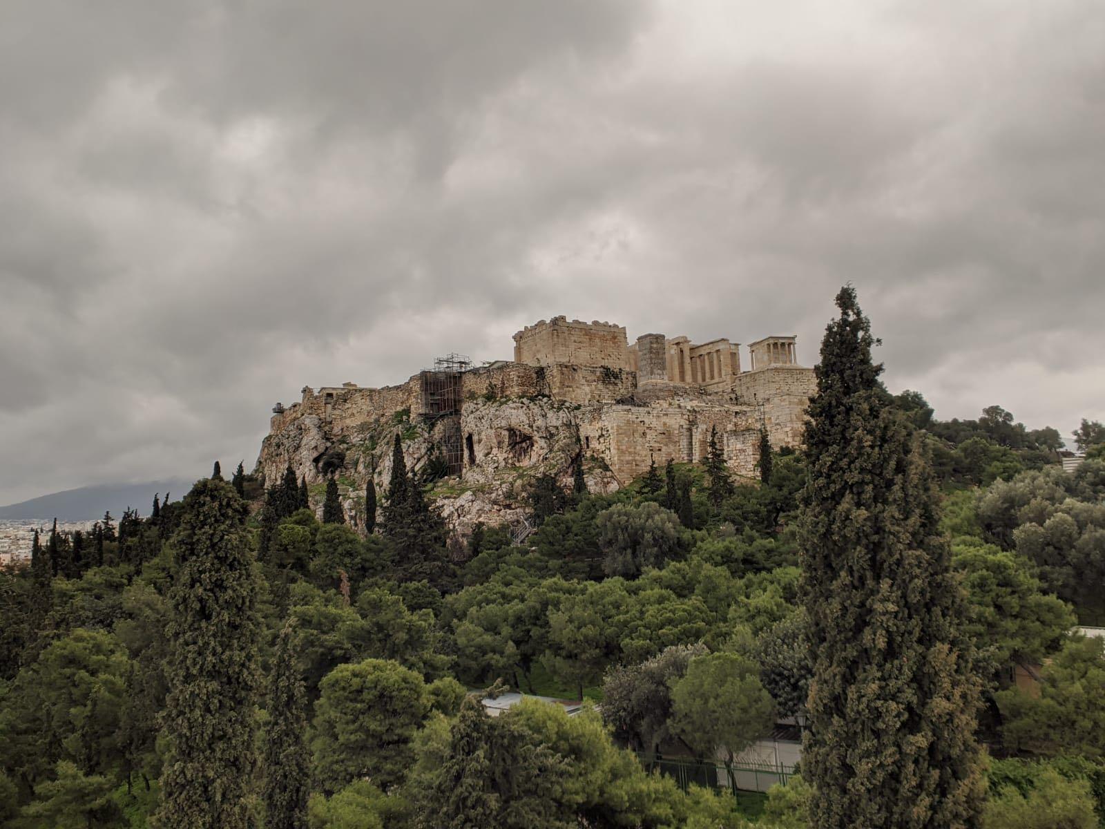 Athen im Winter