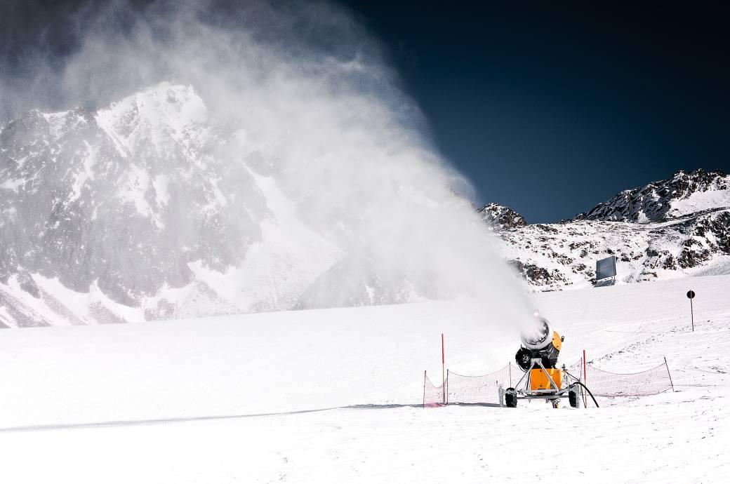 Schneekanonen in Hochgurgel, Österreich