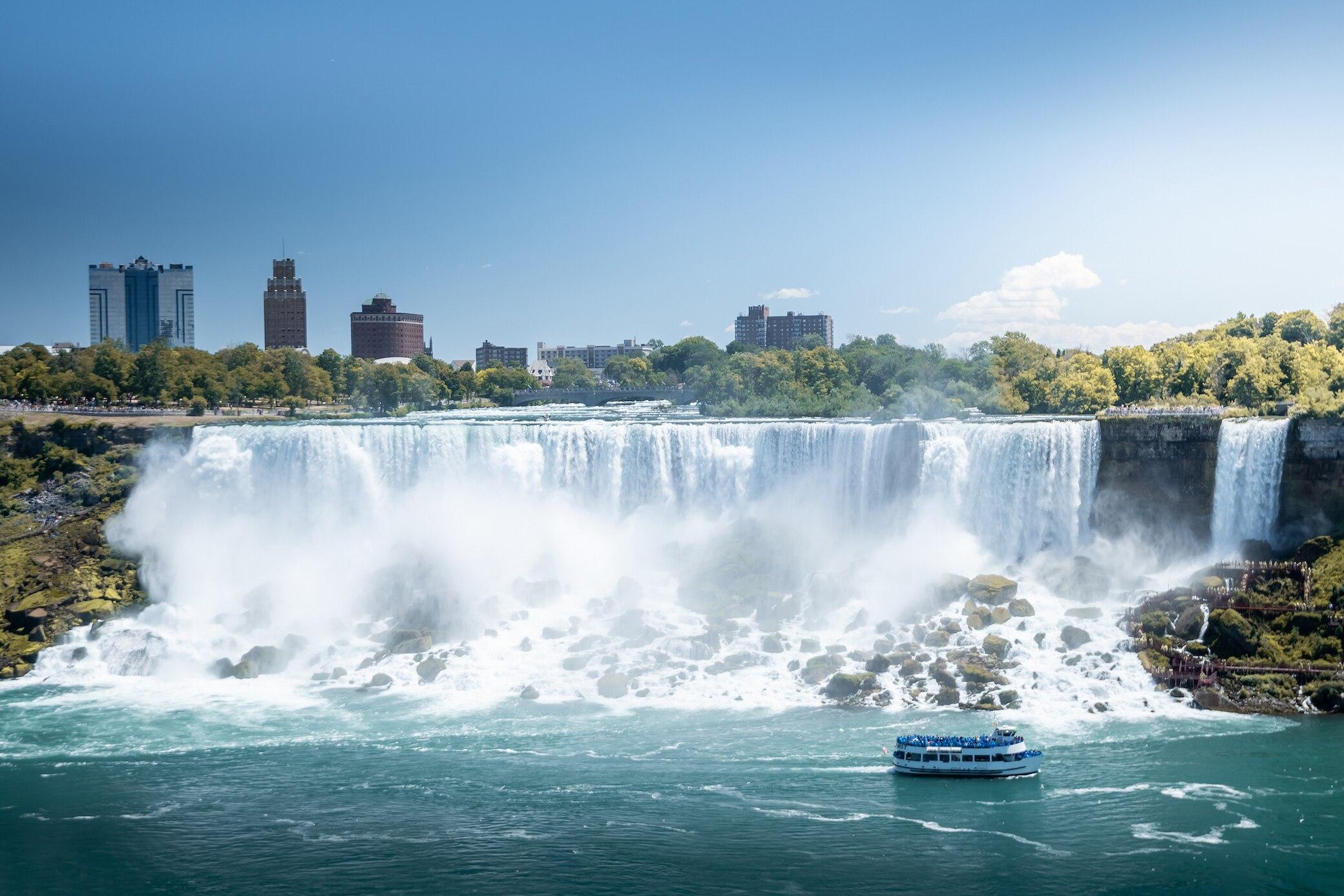 Die Niagarafälle an der Grenze USA und Kanada