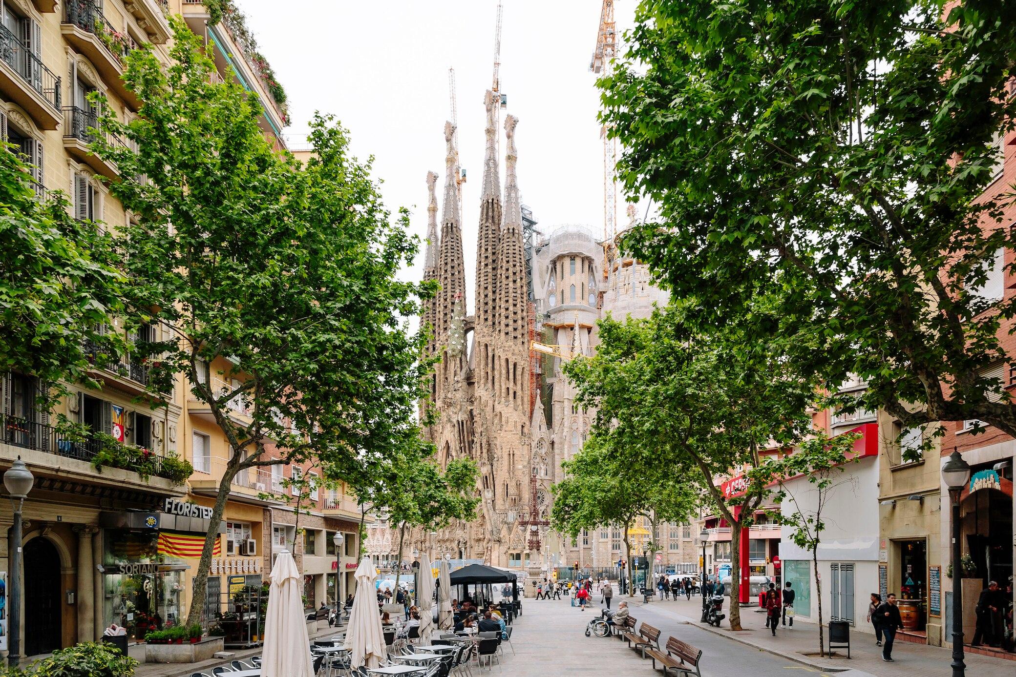 Die Sagrada Familia in Barcelona