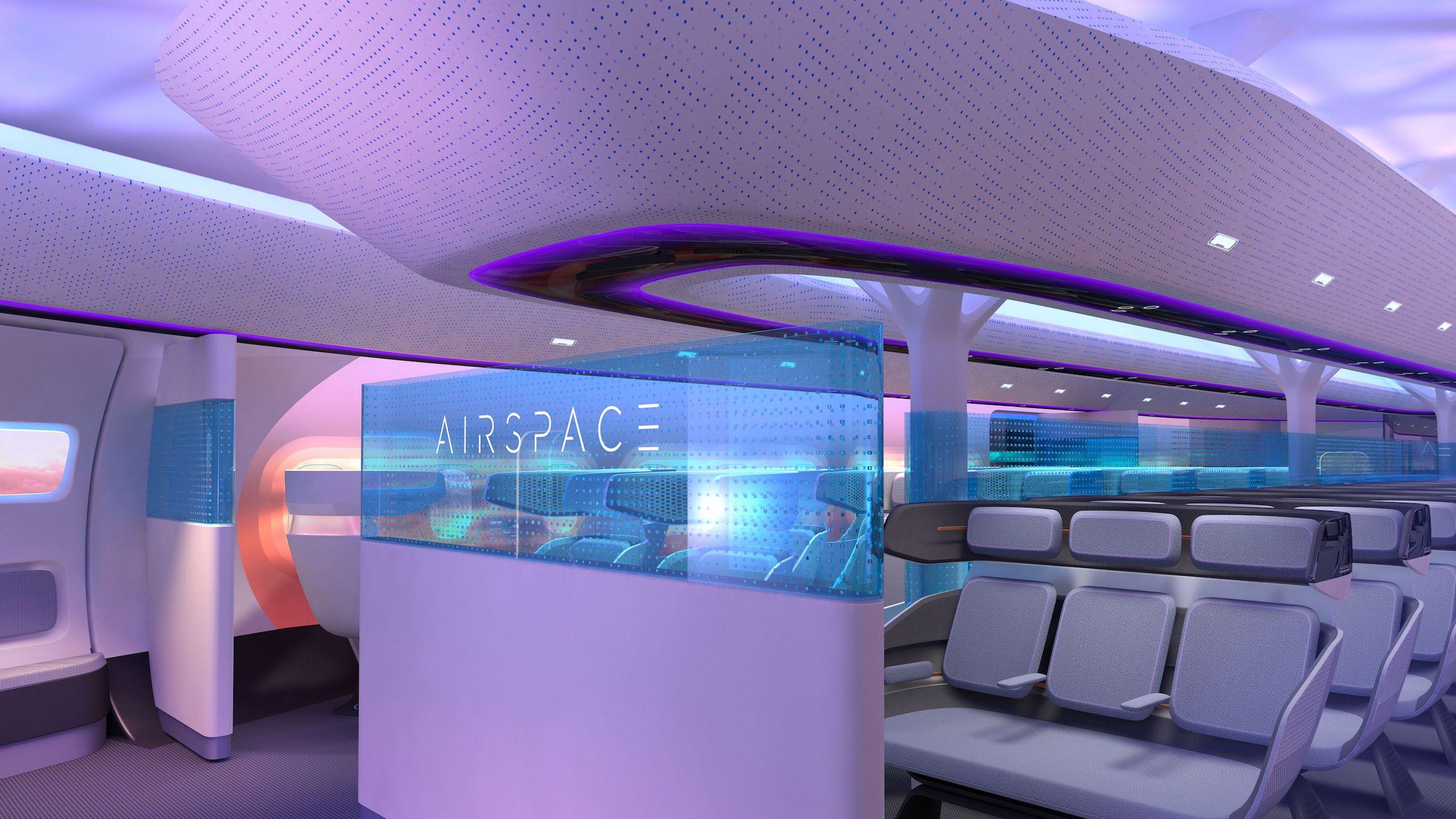 So soll die Passagierkabine des Airbus Maveric aussehen