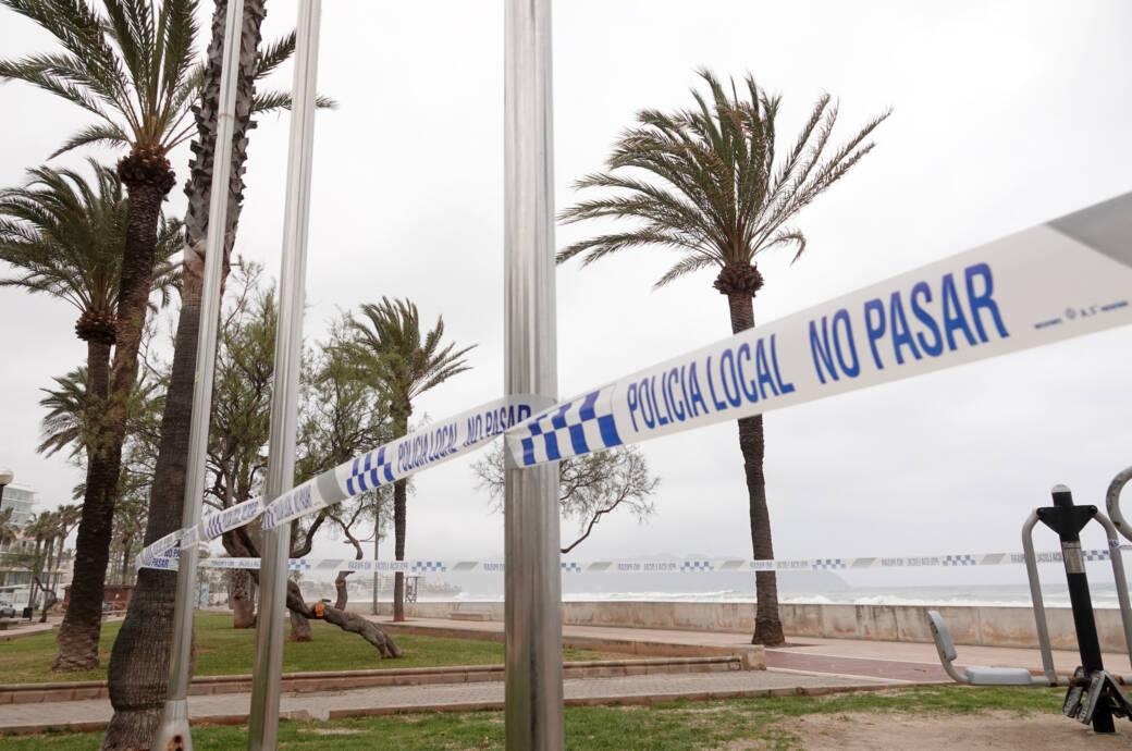 Mallorca gesperrter Strand