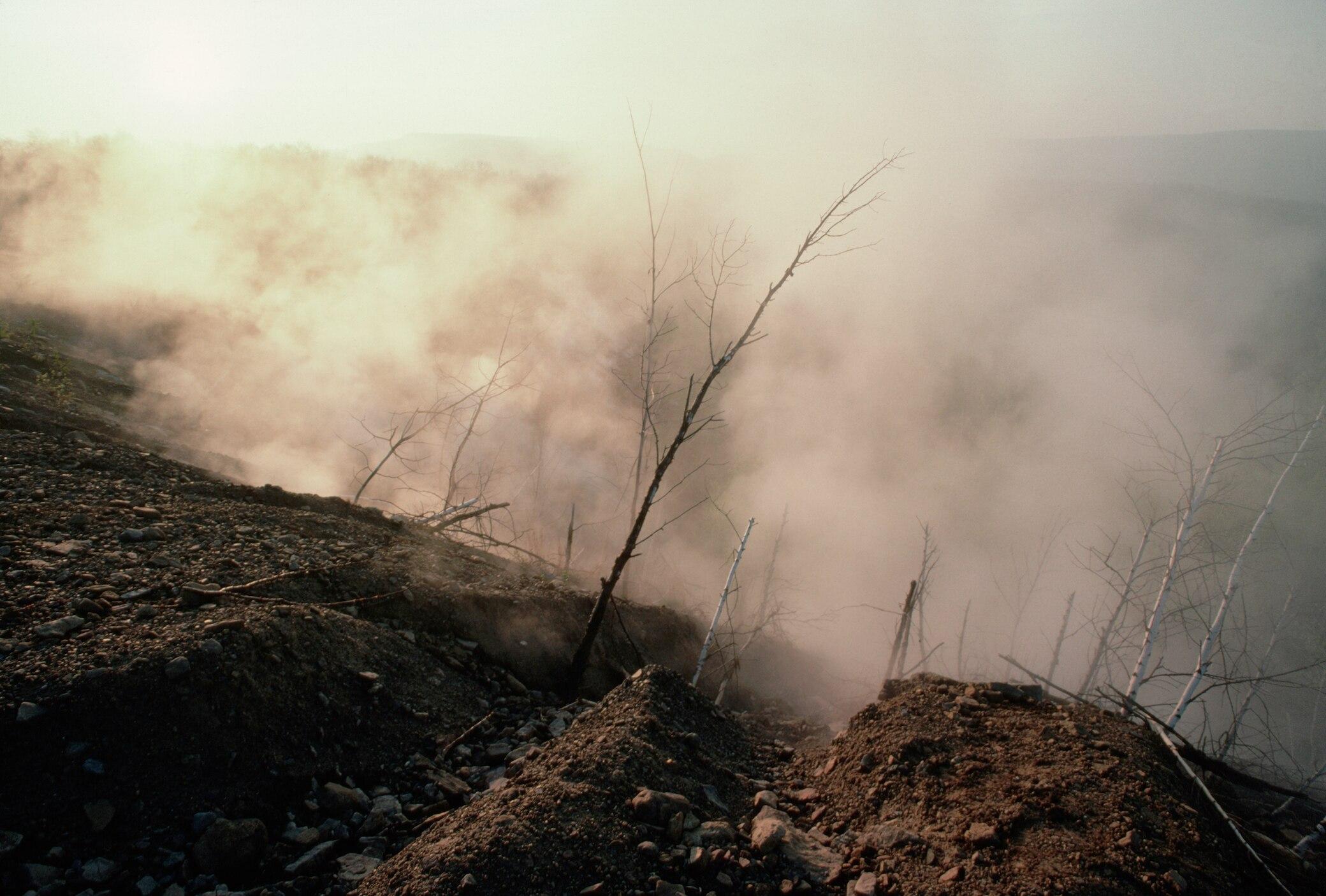 Die brennende Stadt Centralia in den USA