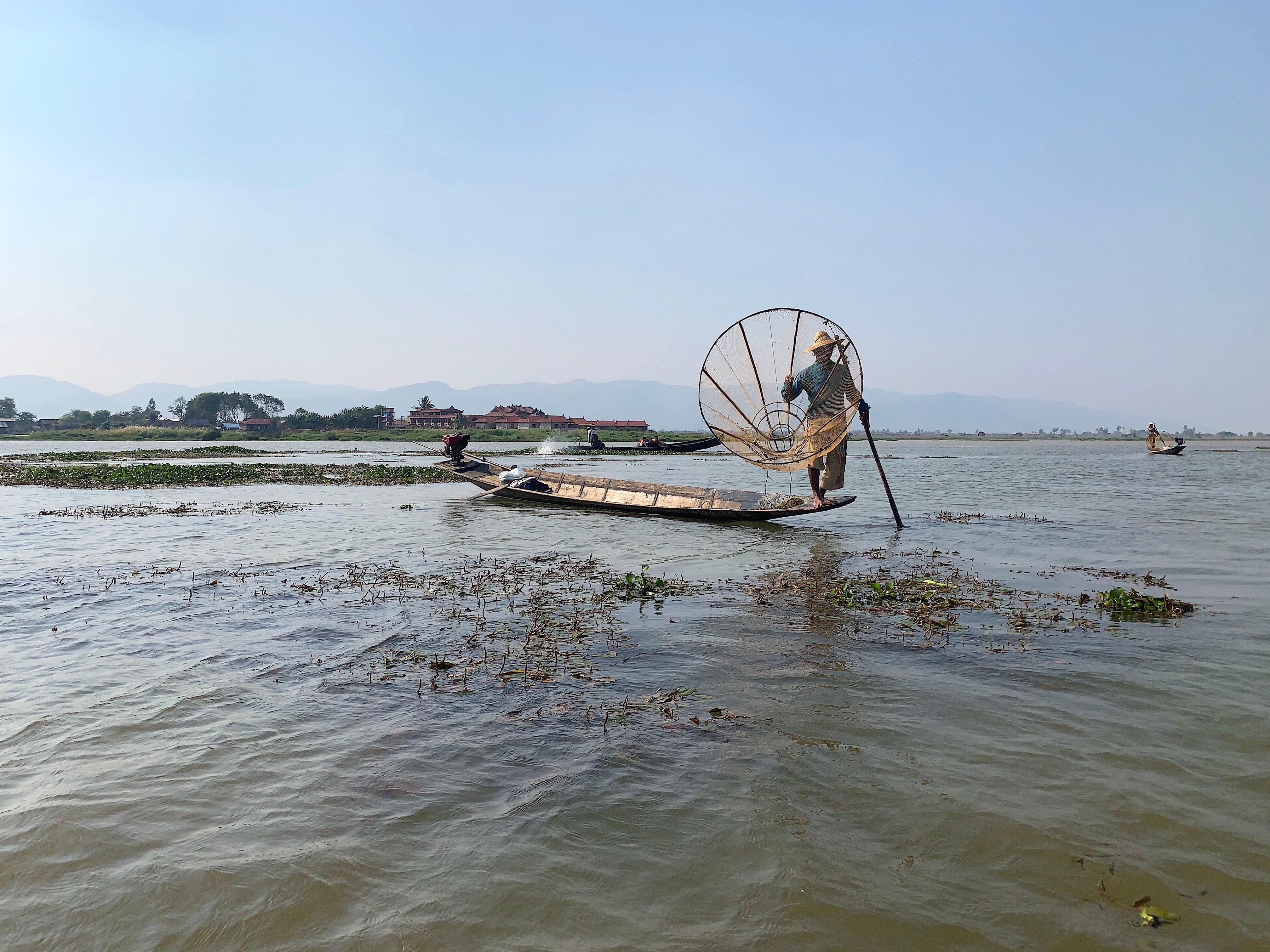 Fischer am Inle-See in Myanmar