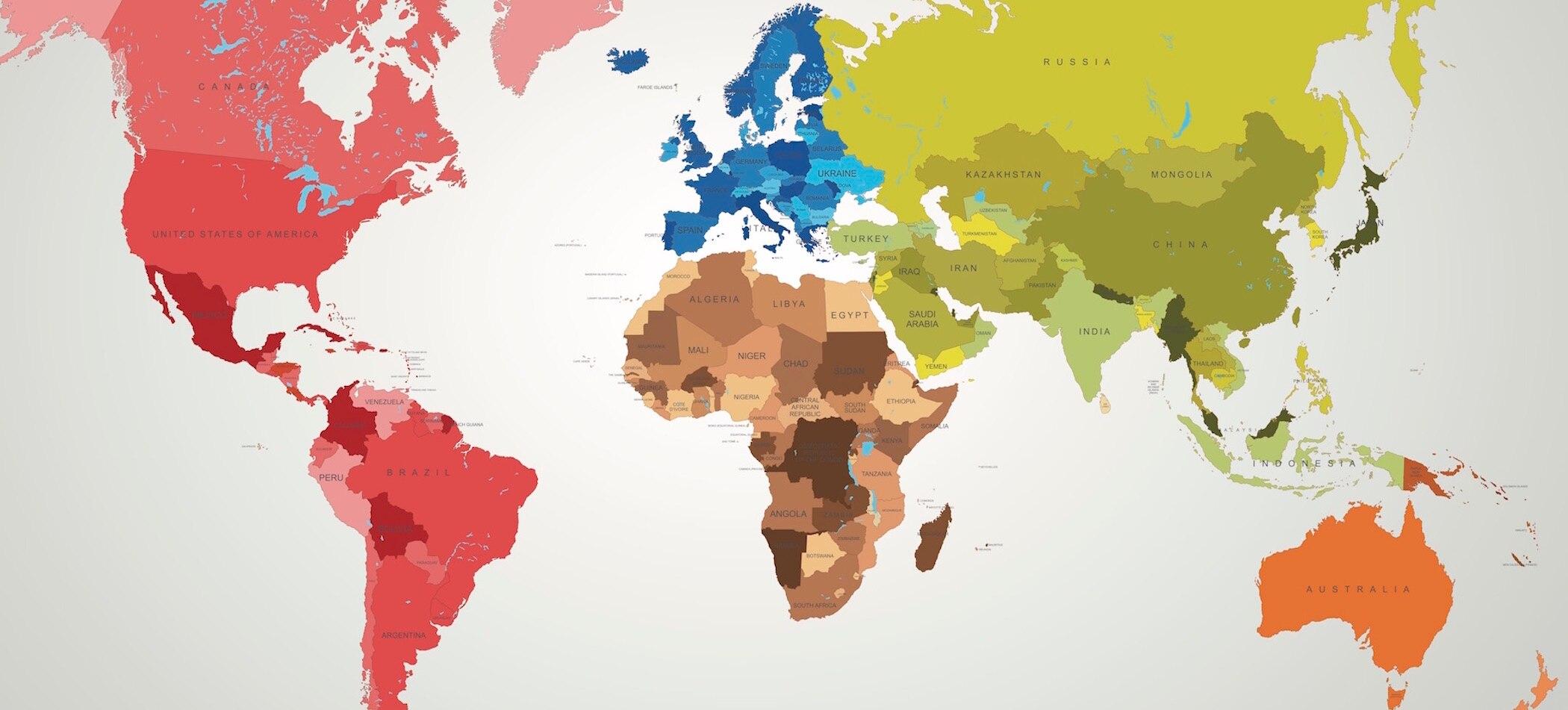 Weltkarte: Geografie-Quiz - Erdkunde-Wissen testen