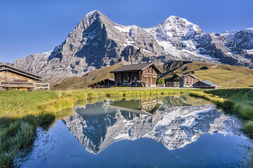 Alpen Wandern Hütte