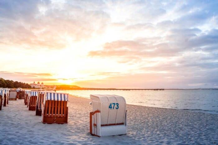 Ein Klassiker für Urlaub in Deutschland: Der Strand von Binz