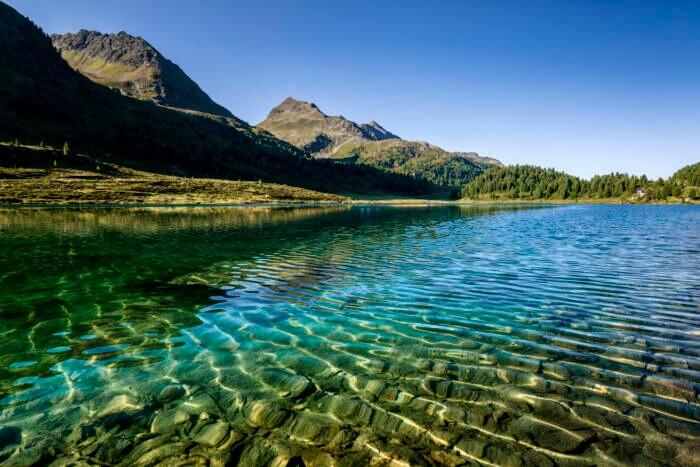 Klares Wasser im Obersee im Defereggental