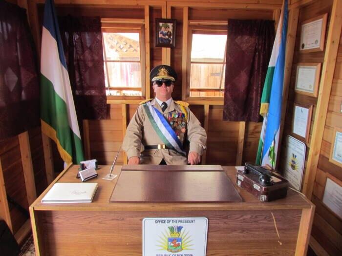 Präsident Kevin Baugh in seinem herrschaftlichen Büro