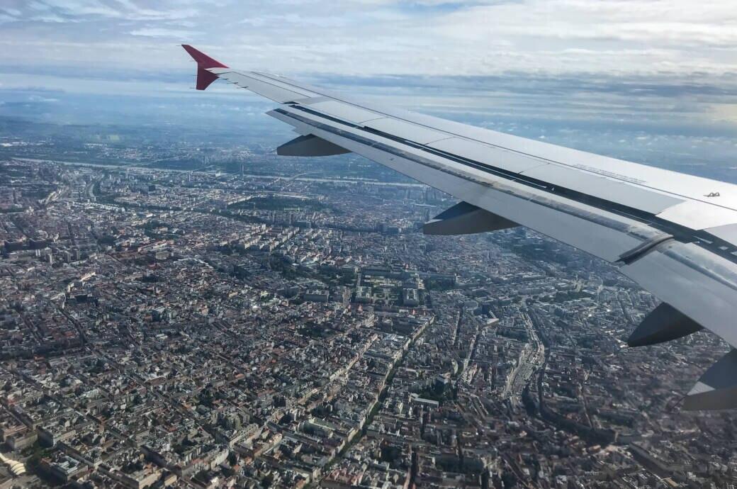 Wien aus dem Flugzeug