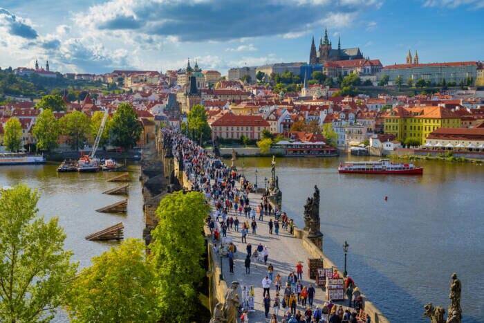 Prag überzeugt unter anderem mit dem hohen Anteil an innerstädtischen Grünflächen