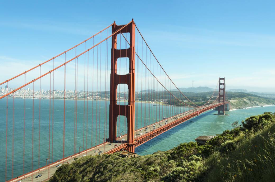 """Jetzt """"singt"""" sie auch noch: die weltberühmte Golden Gate Bridge"""