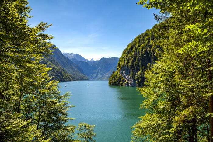 Blick auf den Königssee, Bayern