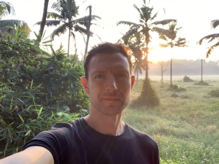 Martin Lewicki nach der Vipassana Meditation in Indien