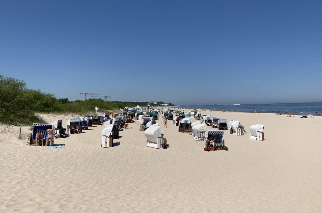 Ahlbeck-Strand auf Usedom an der Ostsee