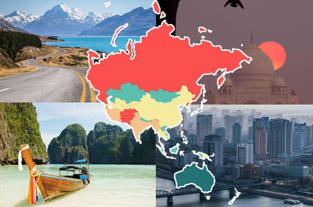 Global Peace Index Asien
