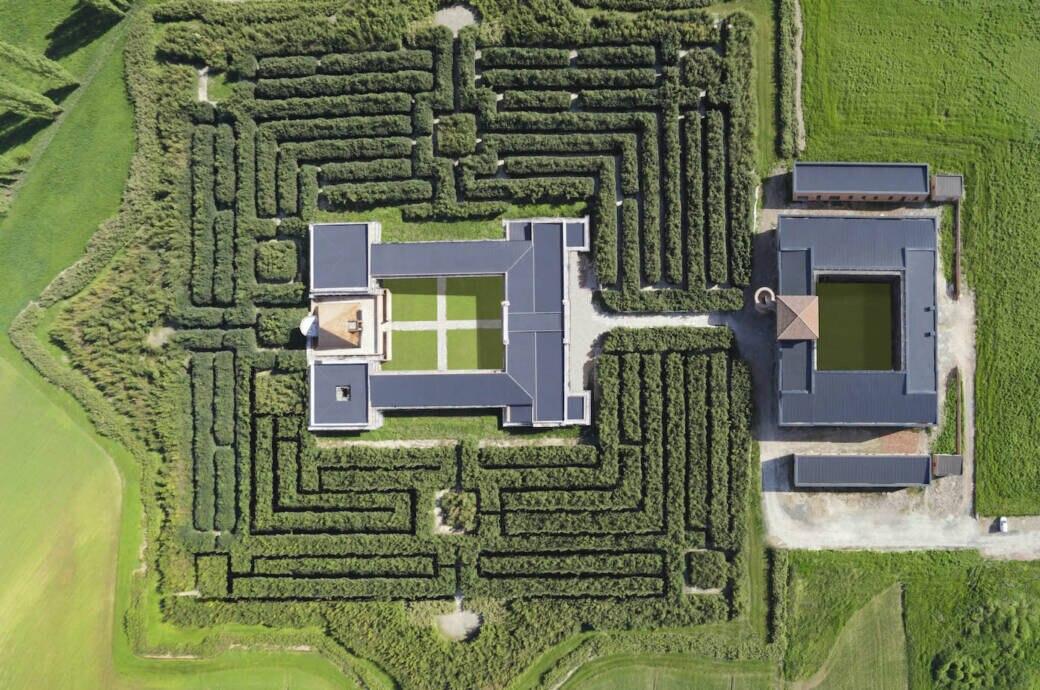 Das Labyrinth von oben. Insgesamt ist das Areal 8 Hektar groß, der Irrgarten selbst bedeckt eine Fläche von 7 Hektar