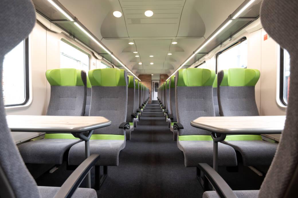 Update: So modern sehen die neu sanierten Großraumwagen im Flixtrain aus