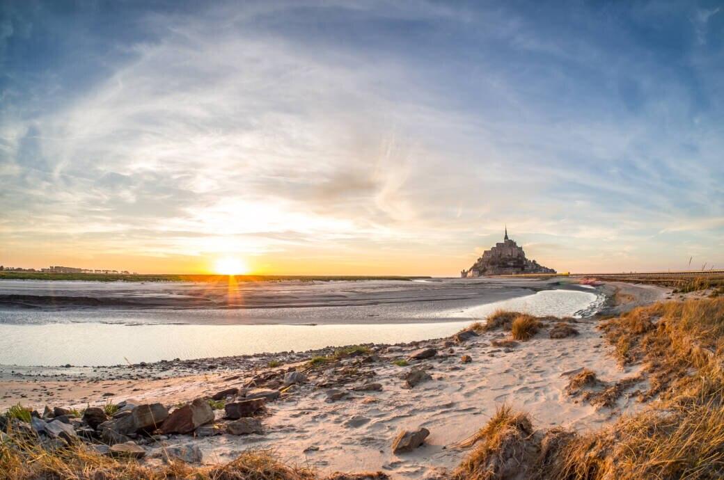 So schön ist die französische Normandie –hier der Blick auf Mont-Saint-Michel