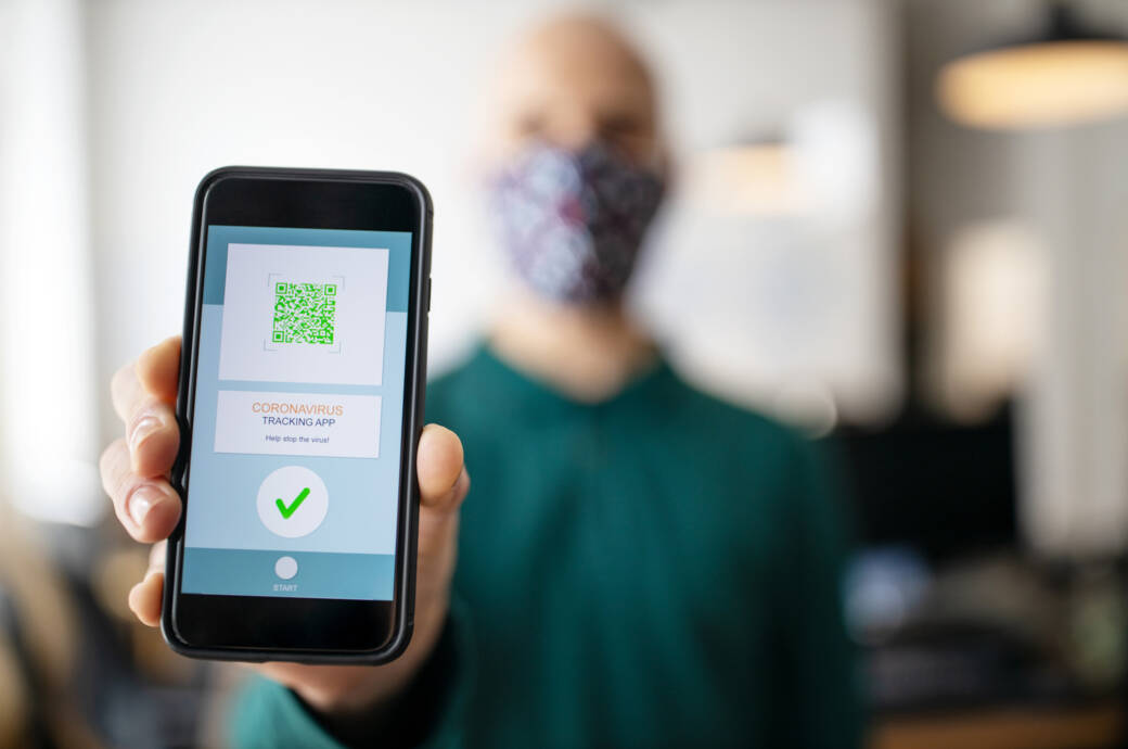 Corona-Warn-App auf dem Smartphone