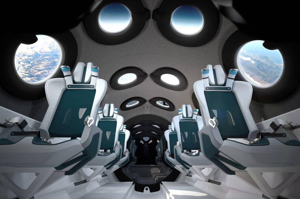 Futuristisches Design: So Soll die Kabine des SpaceShipTwo aussehen