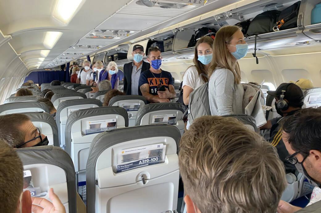 Freie Mittelsitze Flugzeug
