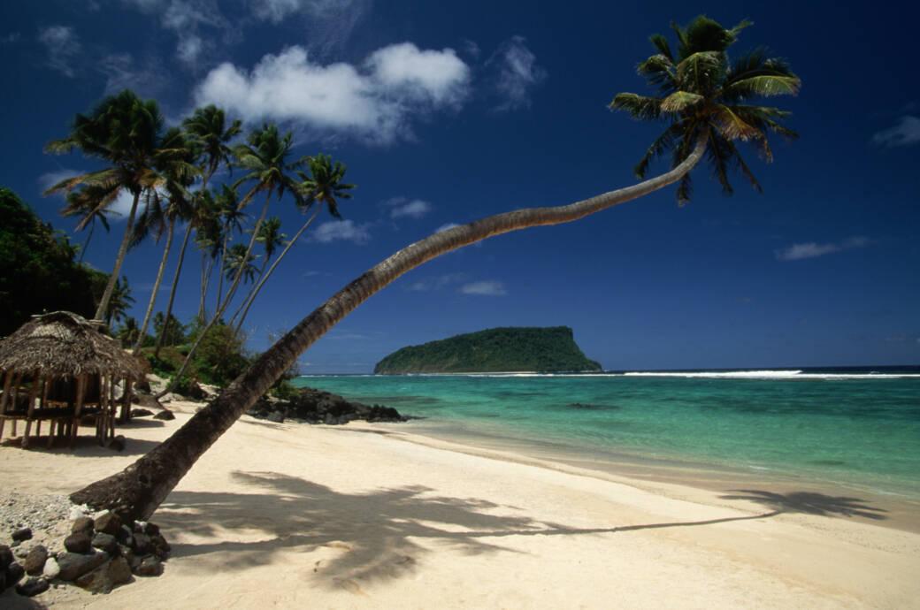 Ein Strand der Insel Upolu, Samoa, Südsee