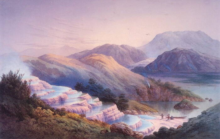 Pink and White Terraces, Neuseeland