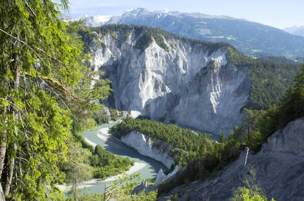 Rheinschlucht im Schweizer Kanton Graubünden
