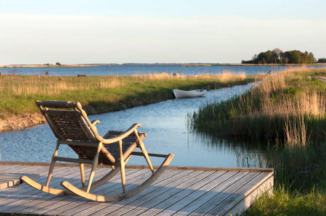 Abendstimmung auf der Insel Muhu in Estland