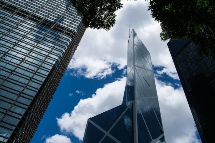 Die Bank of China residiert in einem modernen Gebäude, das leider gar nicht der Feng-Shui-Lehre entspricht