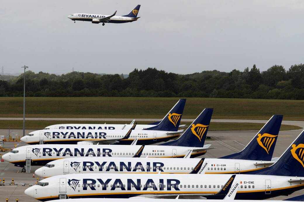 Flugzeuge des Billigfliegers Ryanair