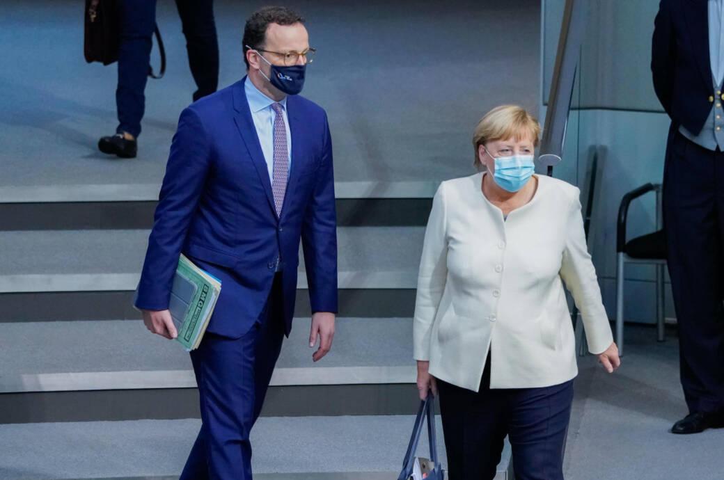 Kanzlerin Angela Merkel und Gesundheitsminister Jens Spahn (beide CDU)