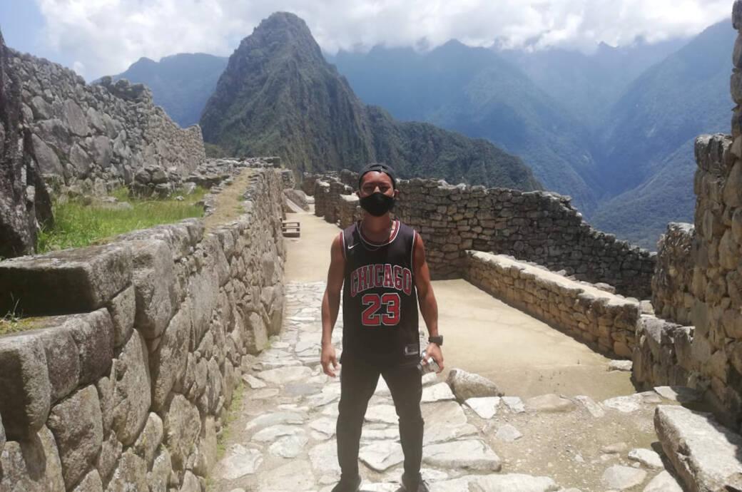 Jesse Katayama in Machu Picchu, Peru
