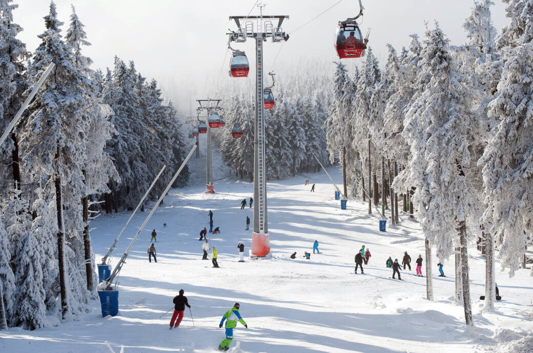 Winter Harz Skifahren
