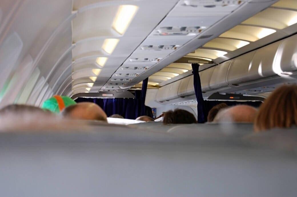 Flugzeug-Innenraum