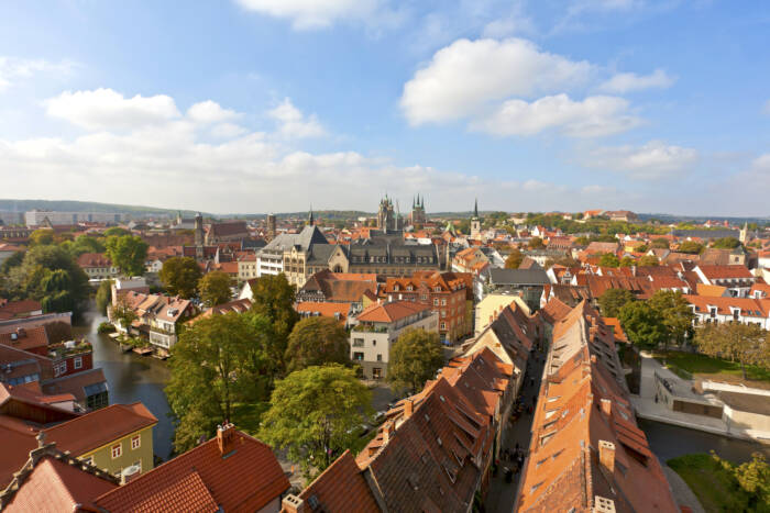 Blick über die Altstadt von Thüringen