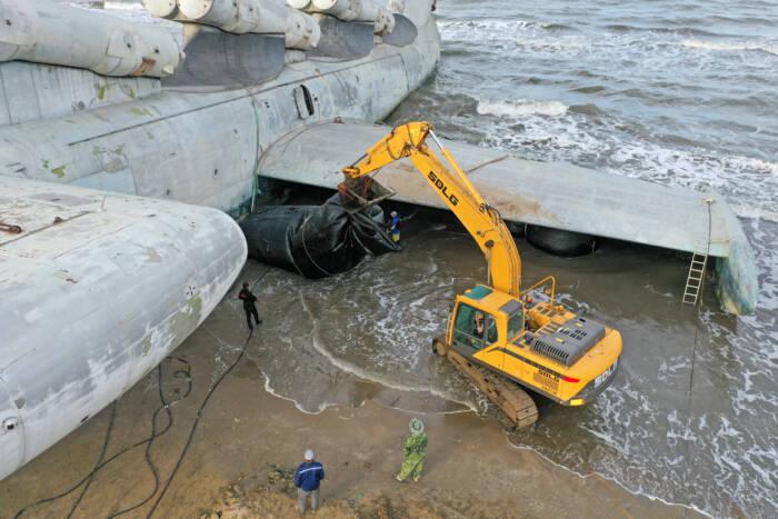 """Erst im Vergleich wird klar, wie groß das """"Kaspische Seemonster"""" tatsächlich ist"""