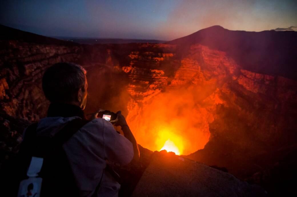Der Masaya-Vulkan in Nicaragua