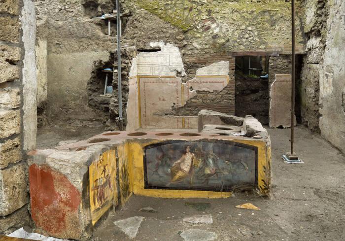 Pompeki Thermapolium Ausgrabung