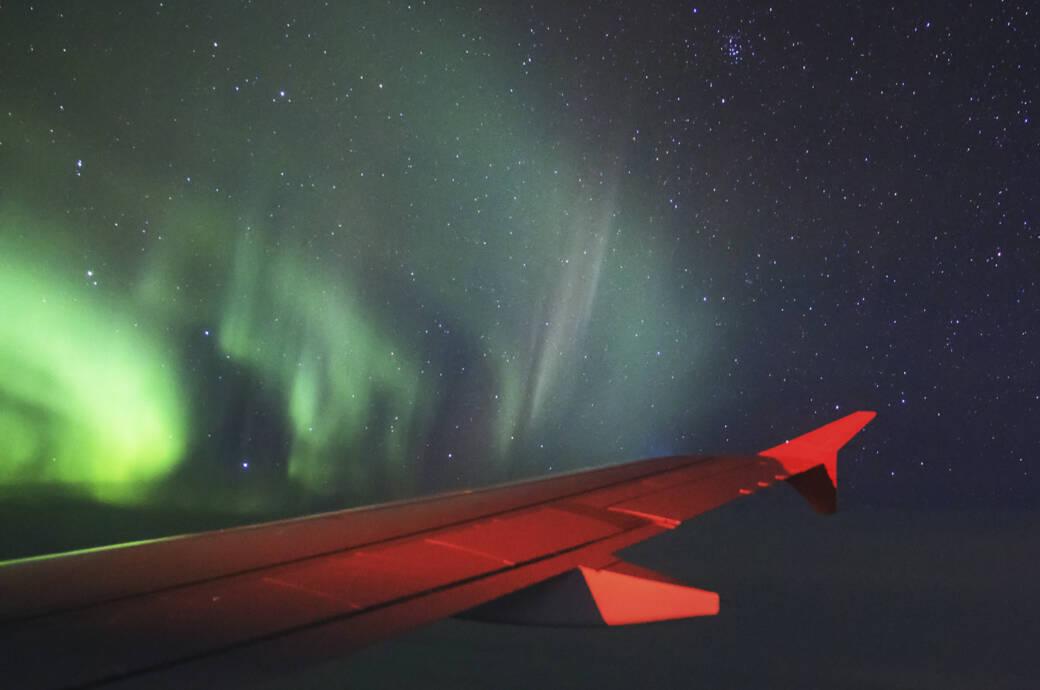 Während des virtuellen Flugs soll man auch Polarlichter zu sehen bekommen