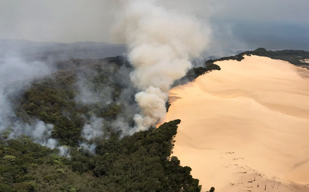 Verheerende Buschfeuer zerstören große Teile von Fraser Island