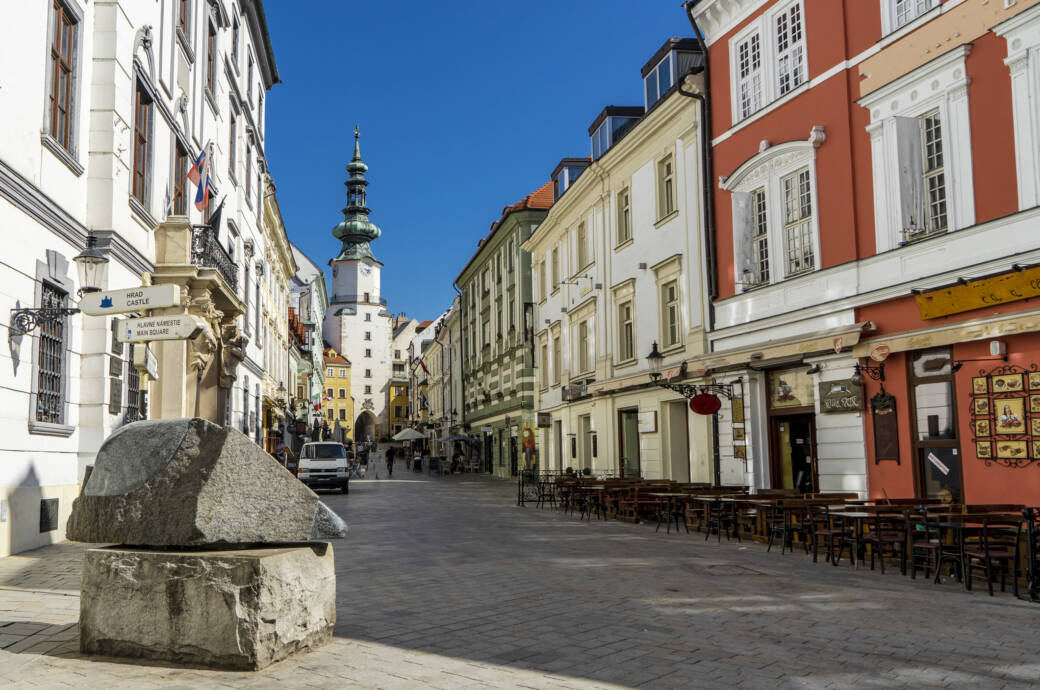 Der Weg zum Michaelstor in Bratislava