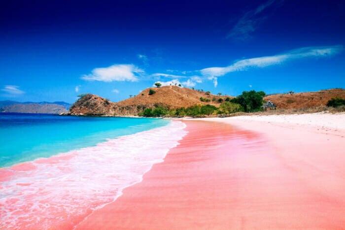 Pantai Merah oder Pink Beach auf der Insel Komodo