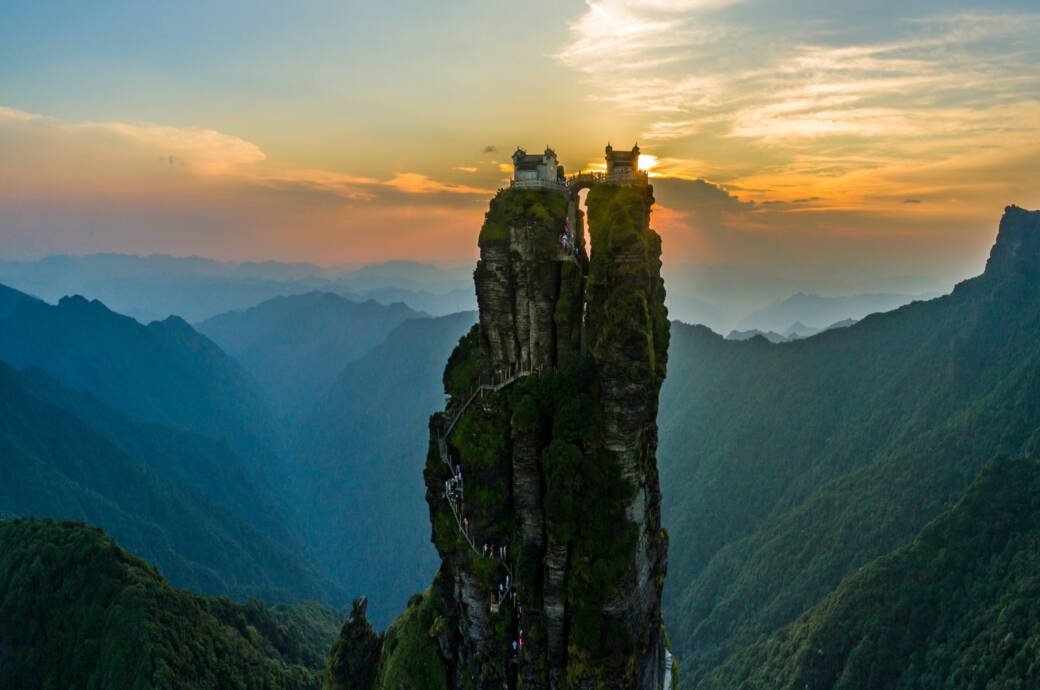 Zwillingstempel, Fanjingshan, China