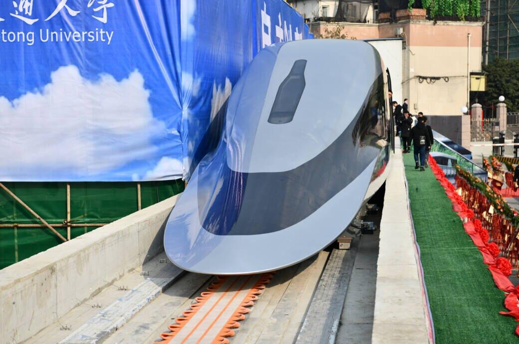 """Super bullet maglev Train"" Rekordzug China"