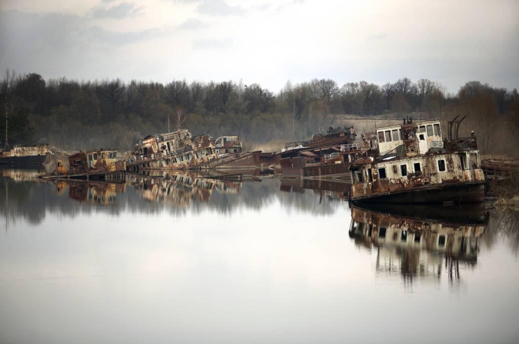 Die vergessenen Schiffswracks von Tschernobyl