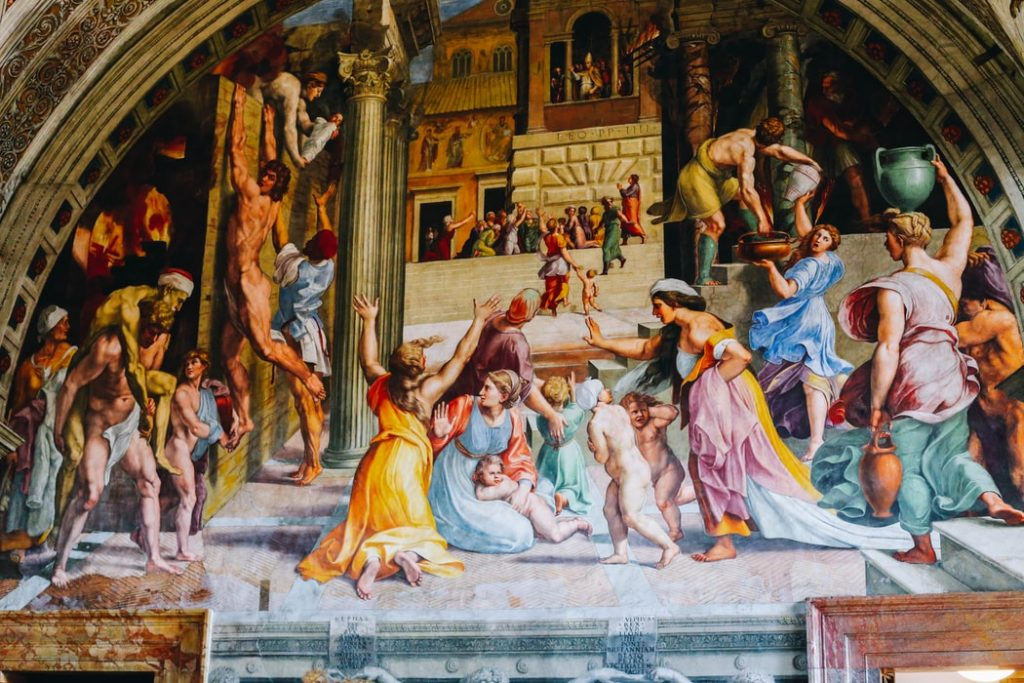 Must-see: Admire famous works of art in the Vatican Museums.