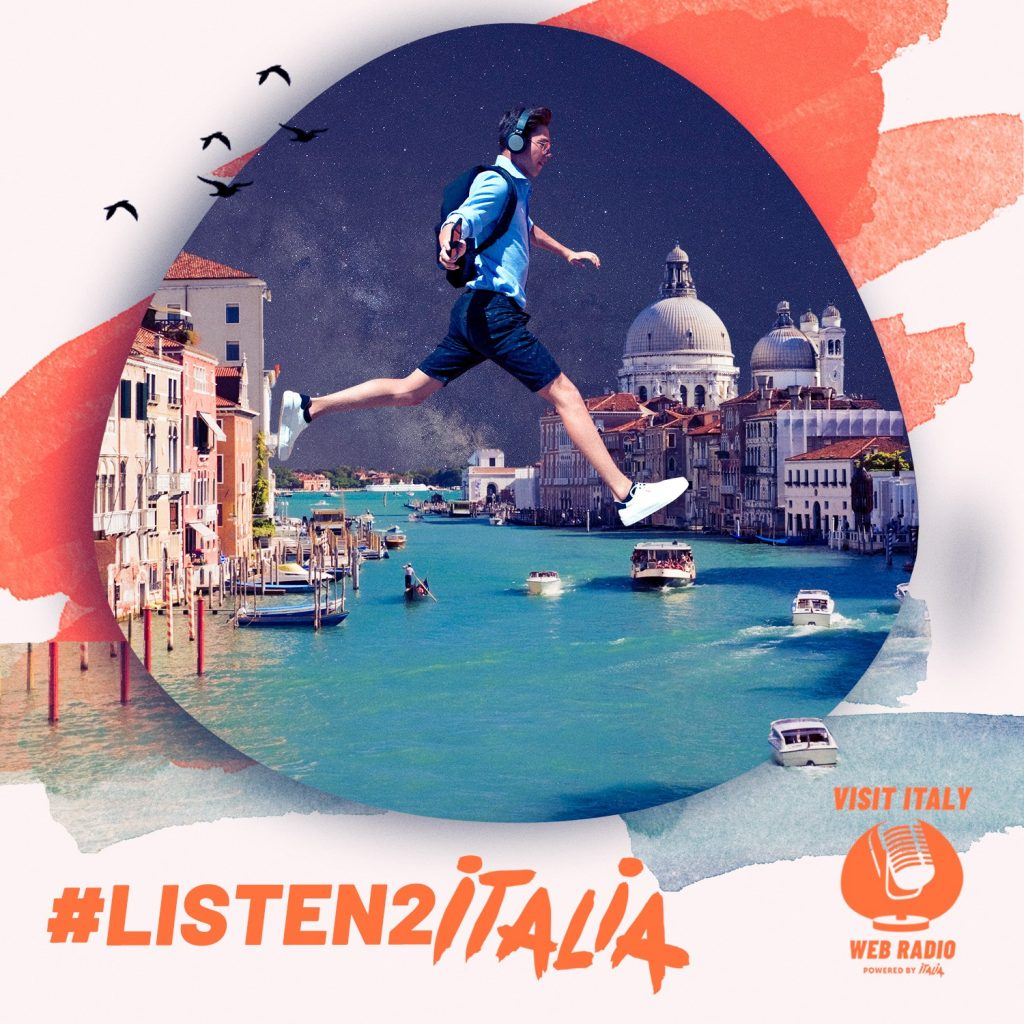 """The perfect travel companion for your next dream vacation in Italy: the web radio """"Visit Italy""""."""