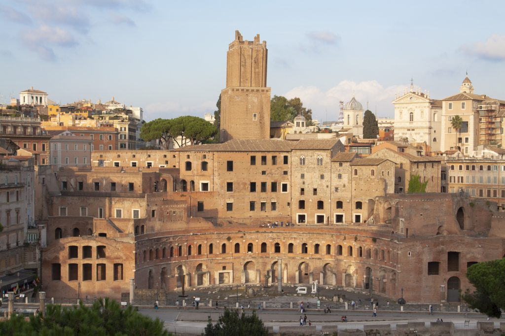 The Trajan's Markets are considered to be the first covered shopping center in history